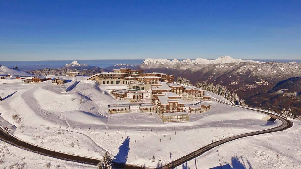 Club Med Grand Massif from above.