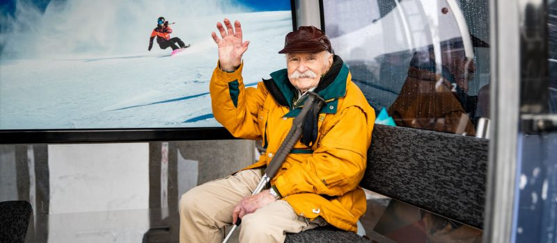 Australia's oldest Olympian honoured on his 99th Birthday at Thredbo